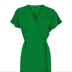 Topshop green dress - like new